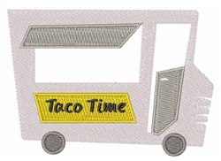 Taco Time embroidery design
