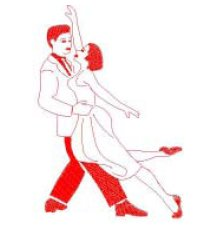 Dancing Partners embroidery design