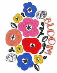 Bloom embroidery design