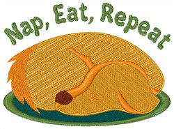 Nap Eat Repeat embroidery design