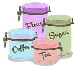 Canisters embroidery design