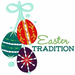 Easter Tradition Eggs embroidery design