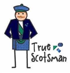 True Scotsman embroidery design