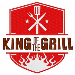 Grill King embroidery design