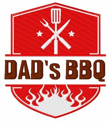Dads BBQ embroidery design