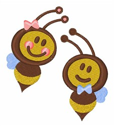 Boy and Girl Bees embroidery design