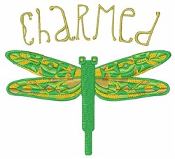 Dragonfly Charmed embroidery design
