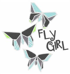 Fly Girl Butterflies embroidery design