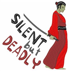 Samurai Silent But Deadly embroidery design