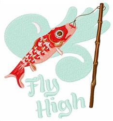 Fly High Koi Wind Sock embroidery design