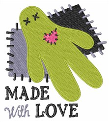 Made With Love embroidery design