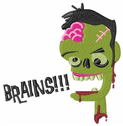 Zombie Brains embroidery design