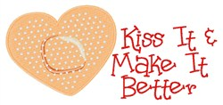 Kiss It embroidery design