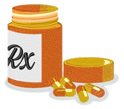 Prescription Bottle embroidery design