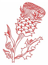 Thistle embroidery design