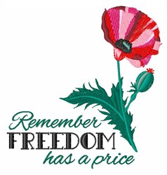 Price Of Freedom embroidery design