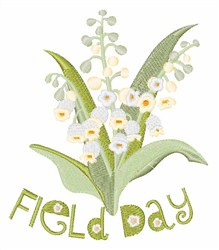 Field Day embroidery design
