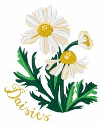 Daisies embroidery design