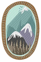 Mountain Range embroidery design