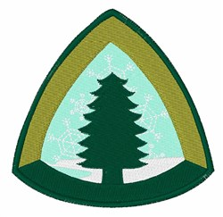 Camping Tree embroidery design