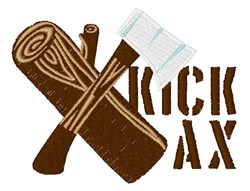 Kick Ax embroidery design