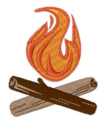 Fire Wood embroidery design