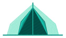 Camp Tent embroidery design
