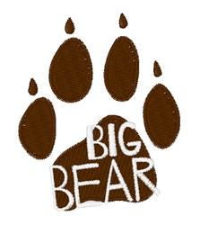 Big Bear embroidery design