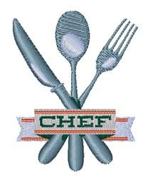 Chef Utensils embroidery design