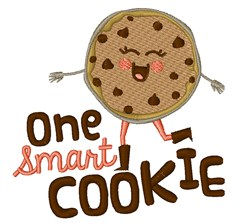 Smart Cookie embroidery design