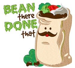 Bean There embroidery design