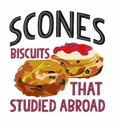 Scones embroidery design