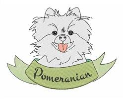 Pomeranian embroidery design