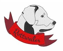 Rottweiler Head embroidery design
