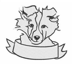 Sheepdog Head embroidery design