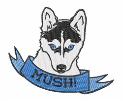 Mush Dog embroidery design