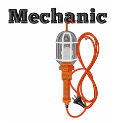 Mechanic Lamp embroidery design