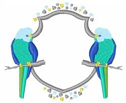 Parakeet Crest embroidery design