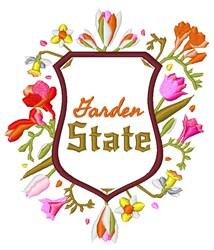Garden State embroidery design