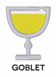 Goblet embroidery design