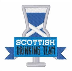 Scottish Drinking Team embroidery design