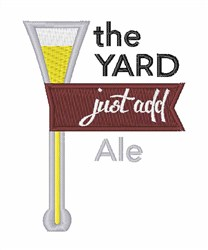 The Yard embroidery design