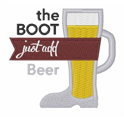 Just Add Beer embroidery design