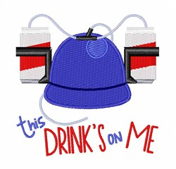 This Drinks On Me embroidery design
