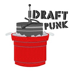Draft Punk embroidery design