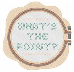 Whats The Point embroidery design