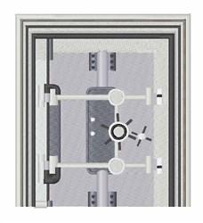 Vault Door embroidery design
