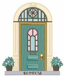 Modern Front Door embroidery design