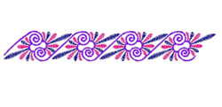 Scrolling Border embroidery design