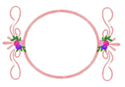 Frame With Floral Scrolls embroidery design